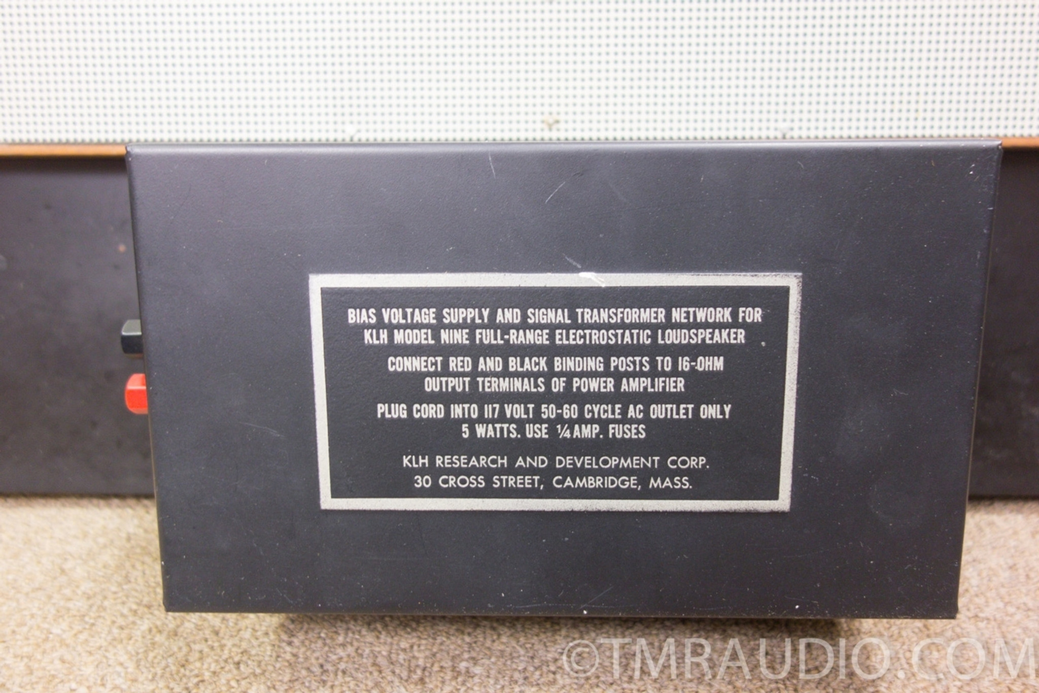 klh model 9 vintage electrostatic speakers in factory box one owner stunning klh [ 1280 x 853 Pixel ]