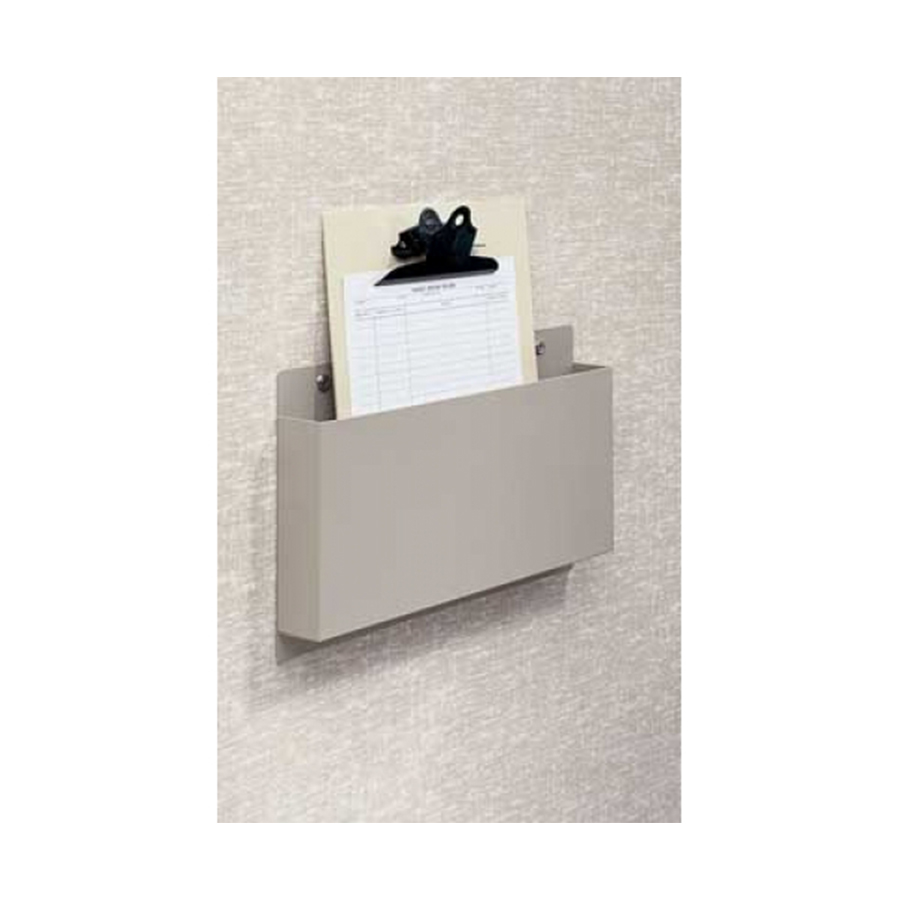 Wall mount document holder anodized aluminum painted in white sand color  also first healthcare products rh firstproducts