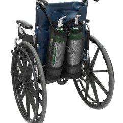 Tank Chair Wheelchair Round Corner Ez Access Oxygen Holder Carrier Dual
