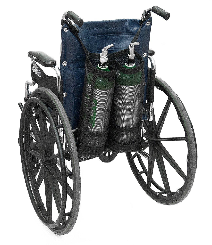 Ez-access Wheelchair Oxygen Tank Holder Carrier - Dual