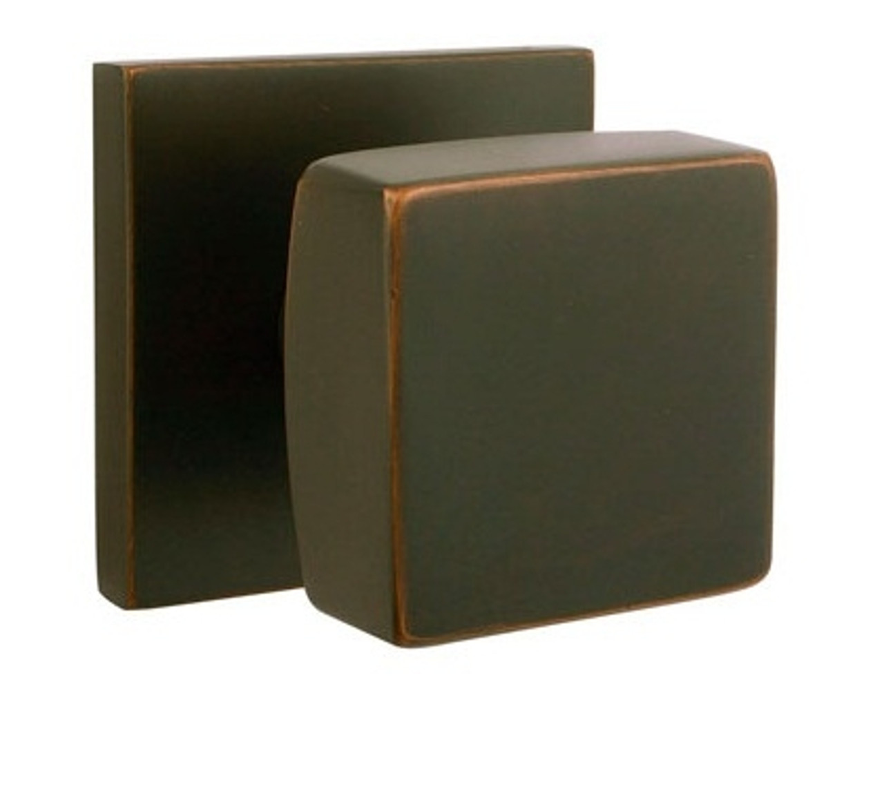 Square Brass Modern Door Knob by Emtek