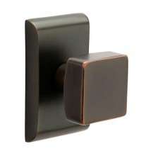 Square Brass Modern Door Knob by Emtek - 360 Yardware