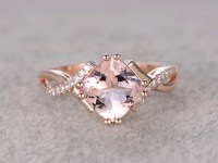 2.4 Carat Cushion Cut Morganite Engagement Ring Diamond ...