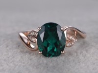 1.8 Carat Emerald Diamond Engagement Ring Vintage Promise ...