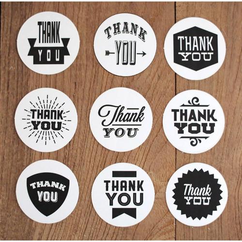 Nacoo thank you circle sticker set  fallindesigncom