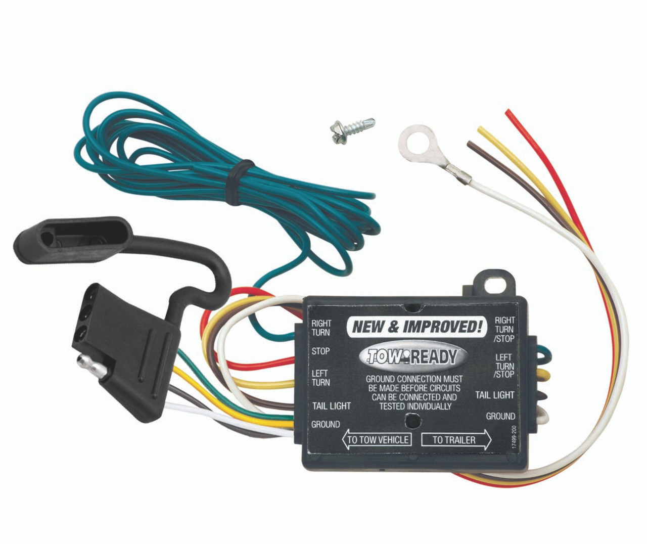 119130 3 wire vehicle to 2 wire trailer upgraded taillight converter [ 1224 x 1029 Pixel ]