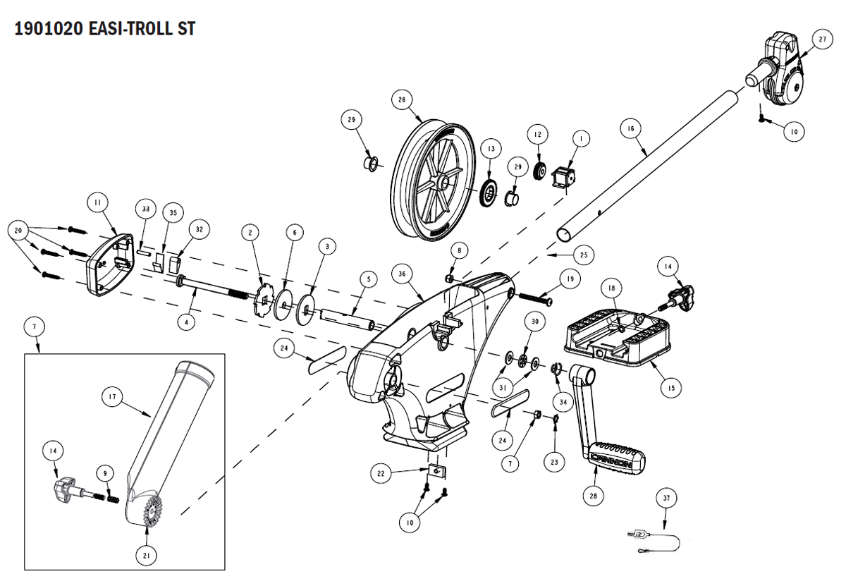 Order Cannon Easi-Troll ST Downrigger Parts Online at