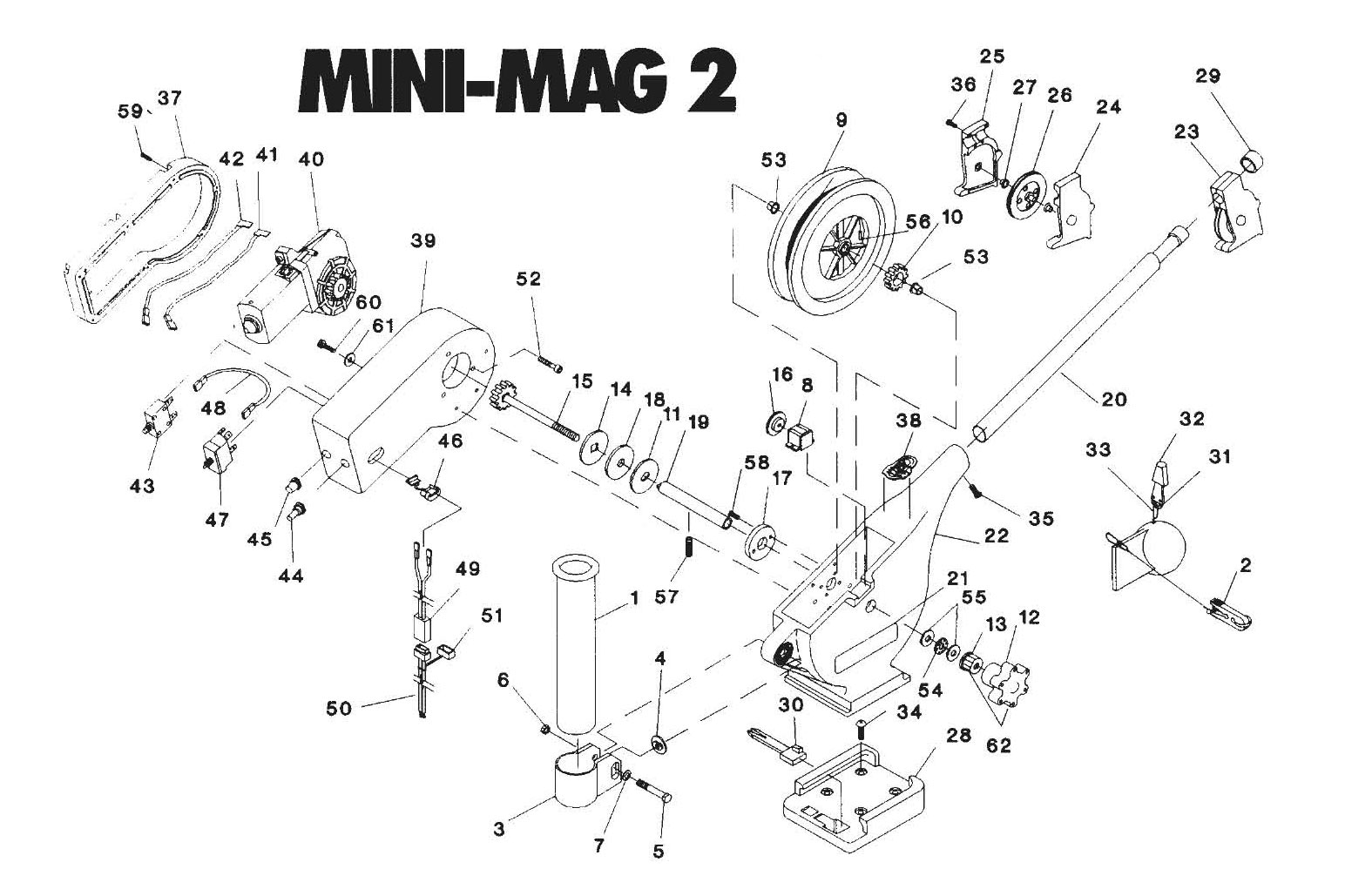 Order Cannon Mini-Mag 2 electric downrigger parts from