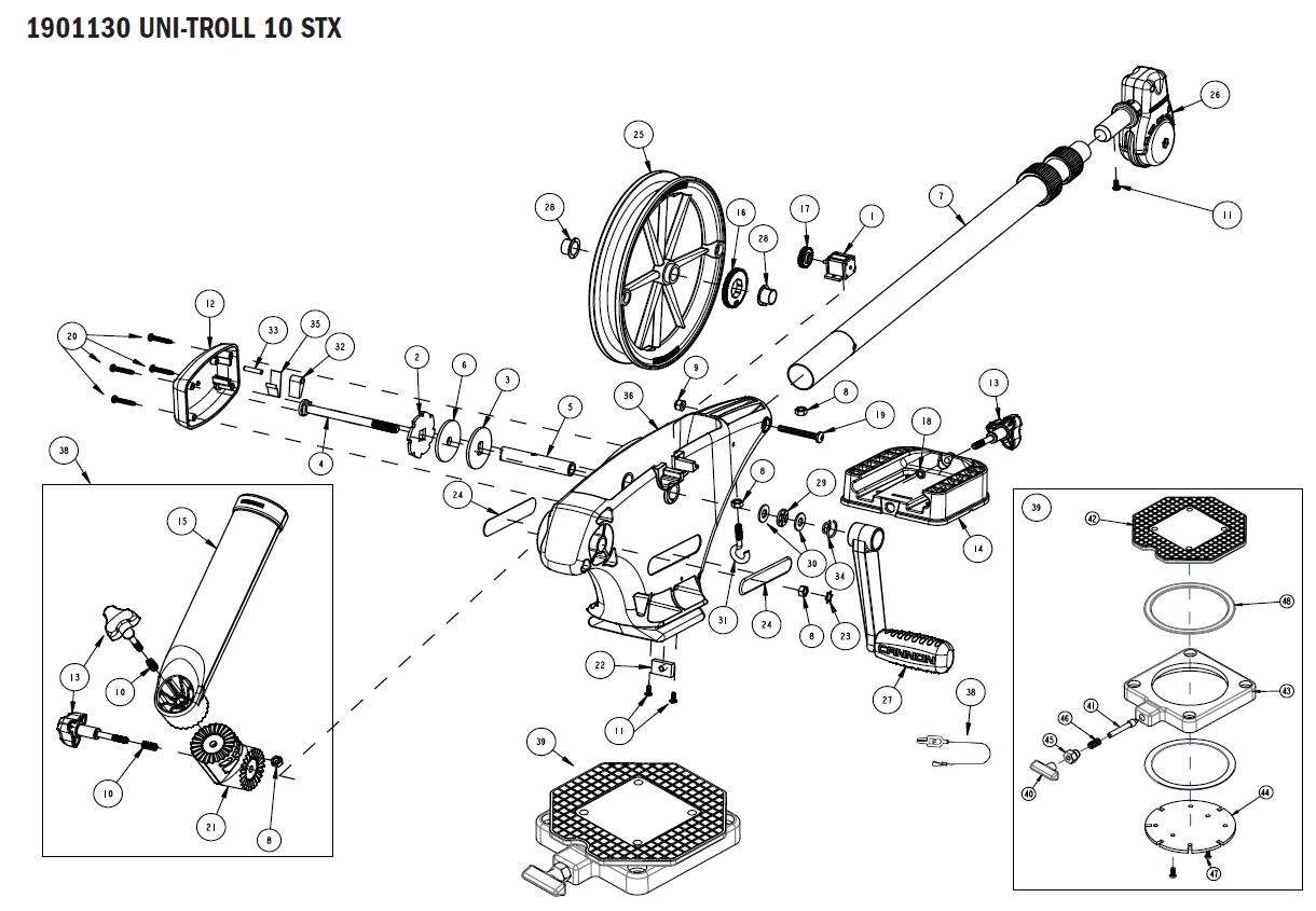 Sporting Goods Penn Manual Downrigger Parts Crank Handle