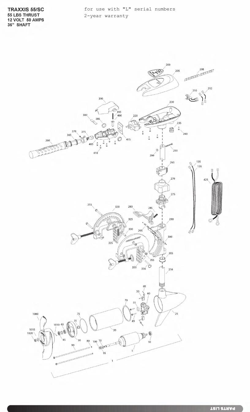 hight resolution of minn kota traxxis 55 sc parts 2011 from fish307 com minn kota traxxis wiring diagram