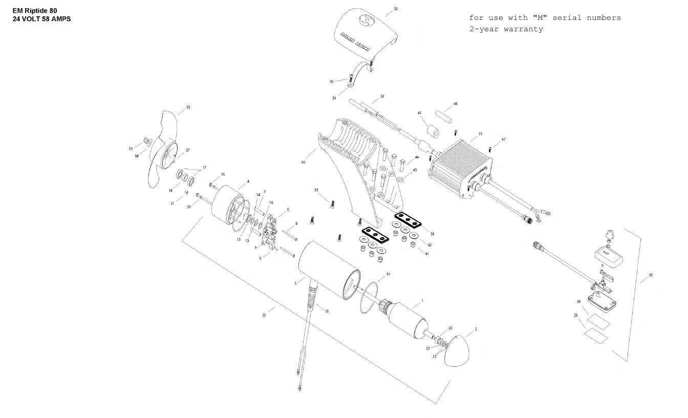 Minn Kota Engine Mount 80 Parts