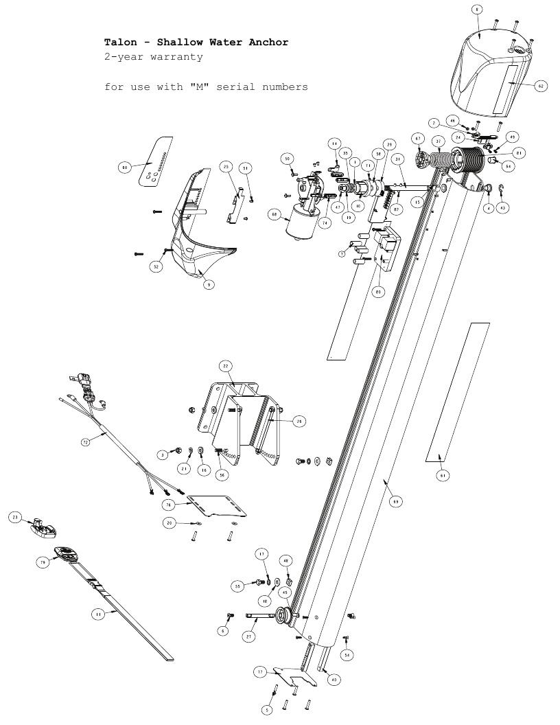 hight resolution of minn kota talon shallow water anchor parts 2012