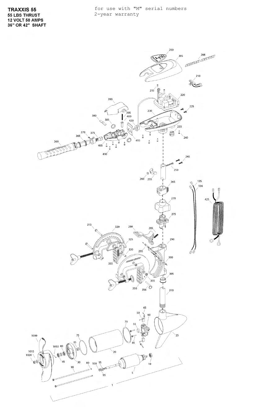 hight resolution of  minn kota traxxis 55 parts 2012 from fish307 com minn kota traxxis wiring diagram