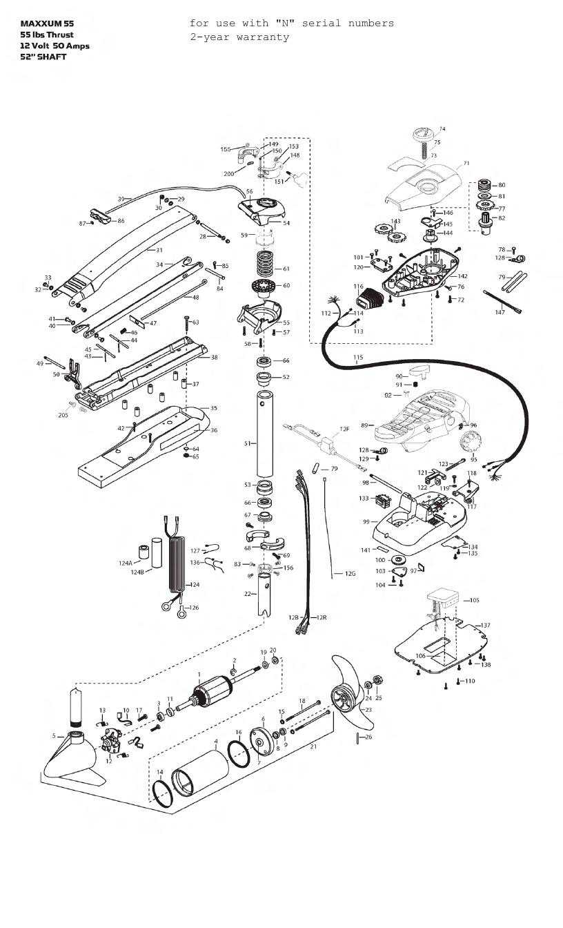 medium resolution of minn kota maxxum 55 wiring diagram minn kota max 55 52 inch parts