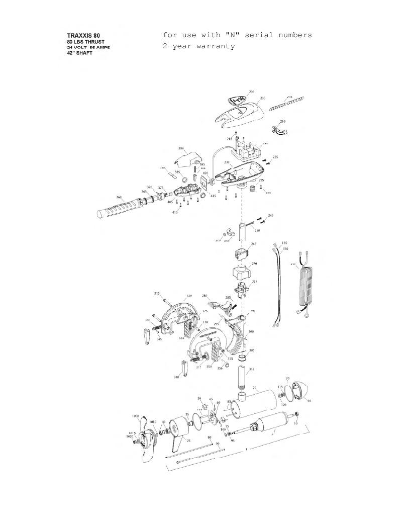 hight resolution of minn kota traxxis 80 parts 2013 minn kota traxxis wiring diagram
