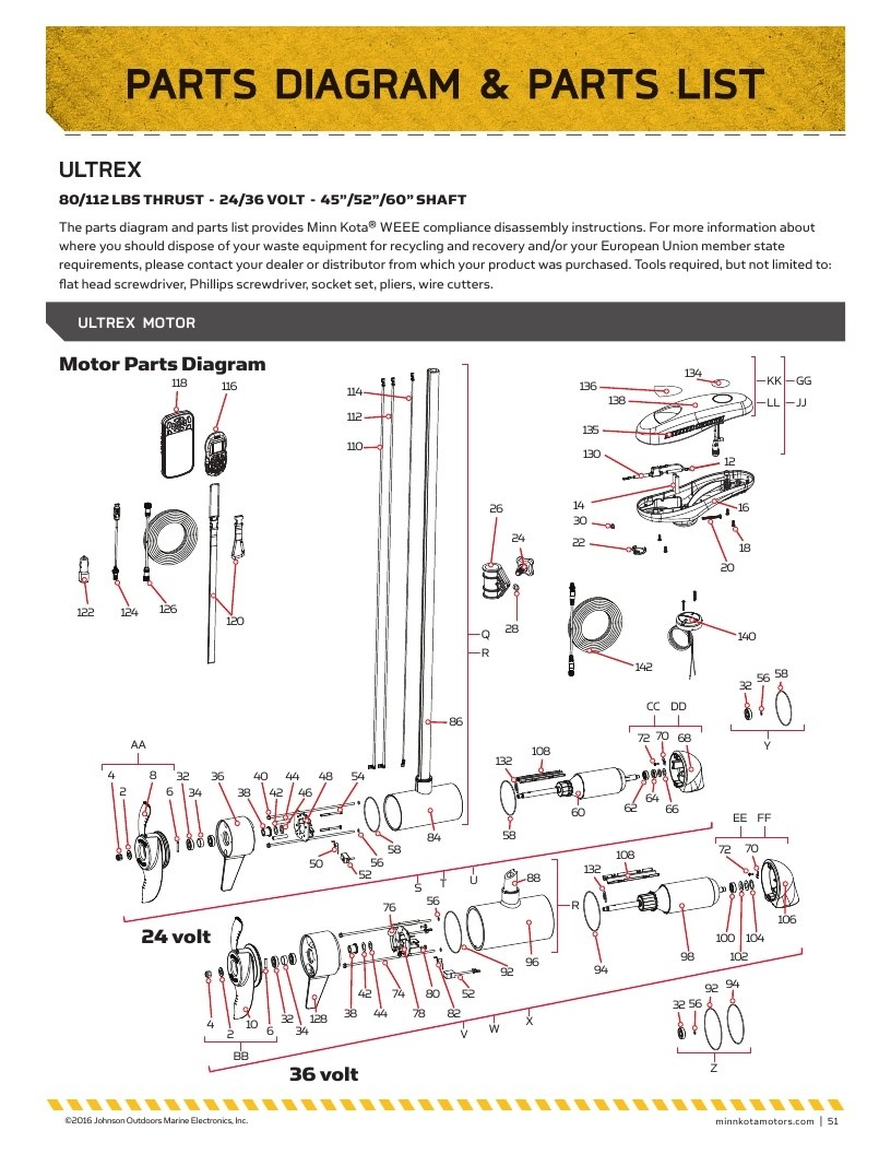 hight resolution of minn kota ultrex parts 2017 from fish307 comminn kota motor parts wiring diagrams 21