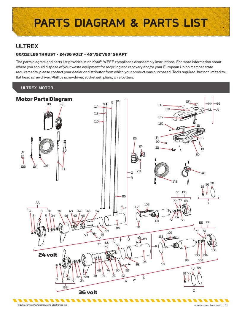 medium resolution of minn kota ultrex parts 2018