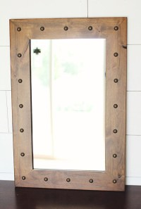 Santa Fe Rustic Mirror with Tacks | Barnwood Mirrors ...