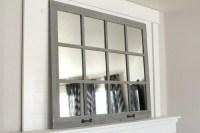 FARMHOUSE MIRROR- 12 WINDOW PANE MIRROR- GRAY ...