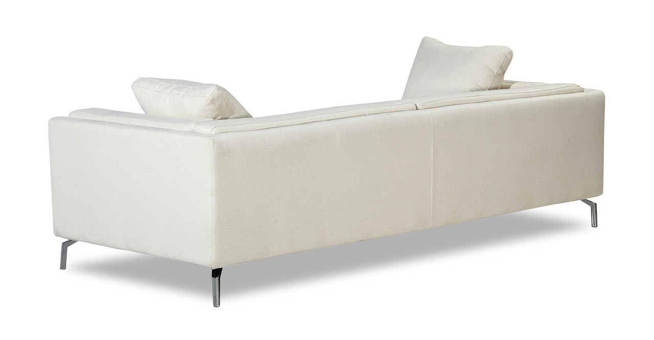 loose pillow back sofa replacement pillows sofas reviews basil loft white peacoat kardiel the exterior frame of encases graciously plump removable full length cushion and 2 side arm cushions are but held in