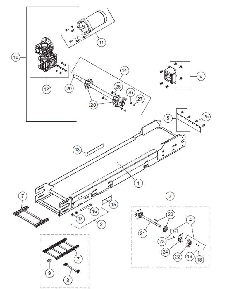 polyhopper spreader drive components