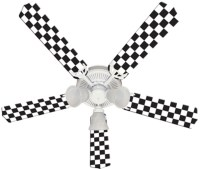 Checkered Flag Ceiling Fan 52""