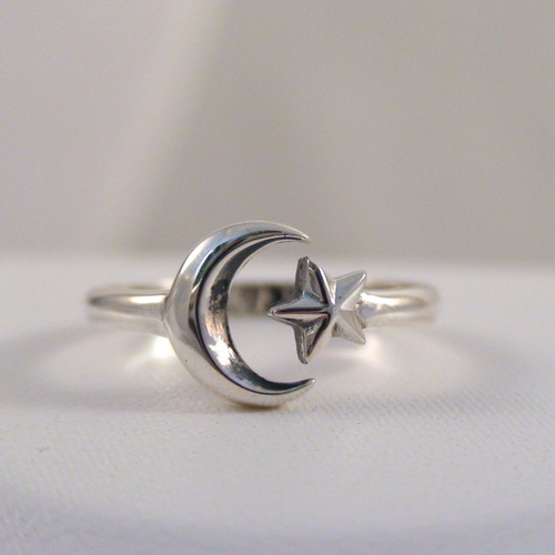 kitchen gifts for mom little kids adjustable sterling crescent moon and star ring