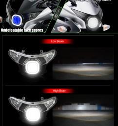 honda cbr250r led headlight 2011 2016 [ 1200 x 1382 Pixel ]