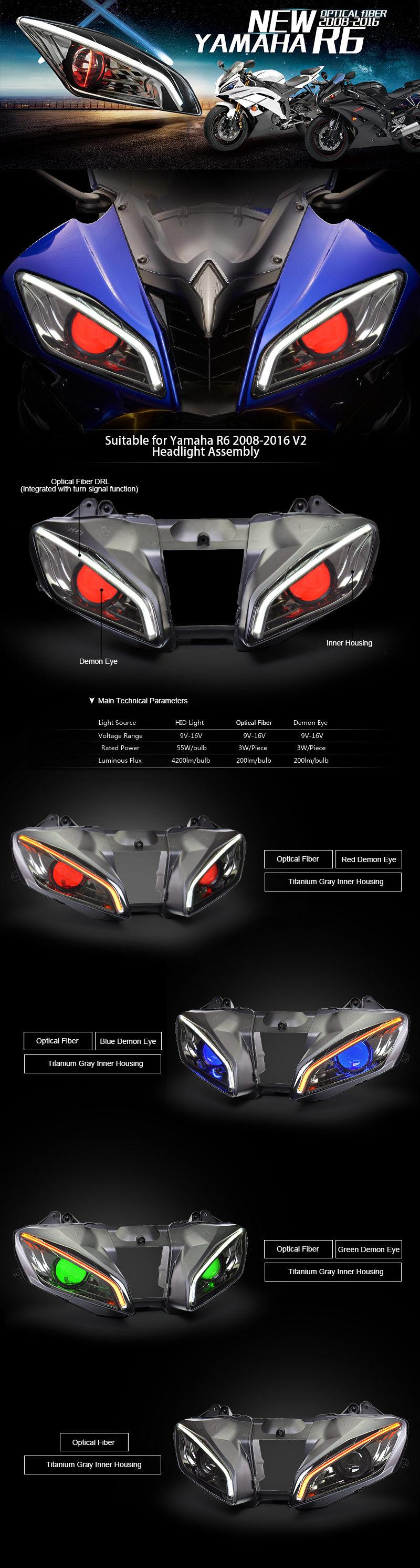 medium resolution of yamaha r6 headlight 2008 2016