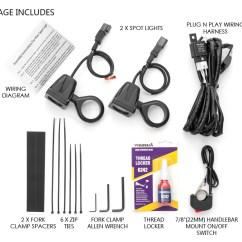 Spotlight Wiring Diagram With Switch Golden Eagle Skeleton 10w Led Motorbike Kit Harness