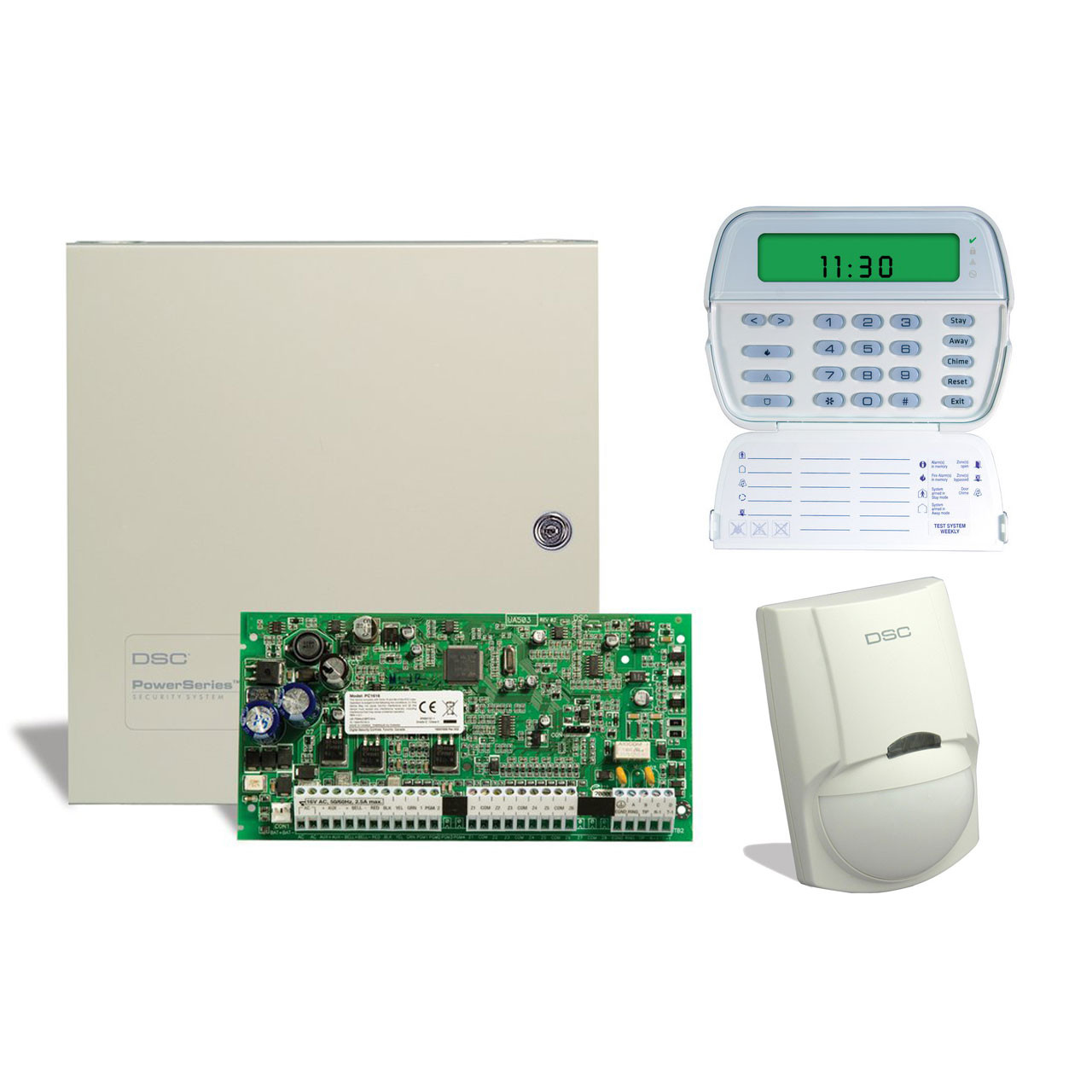 dsc keypad wiring diagram evinrude outboard ignition switch 6 zone alarm kit with and motion detector