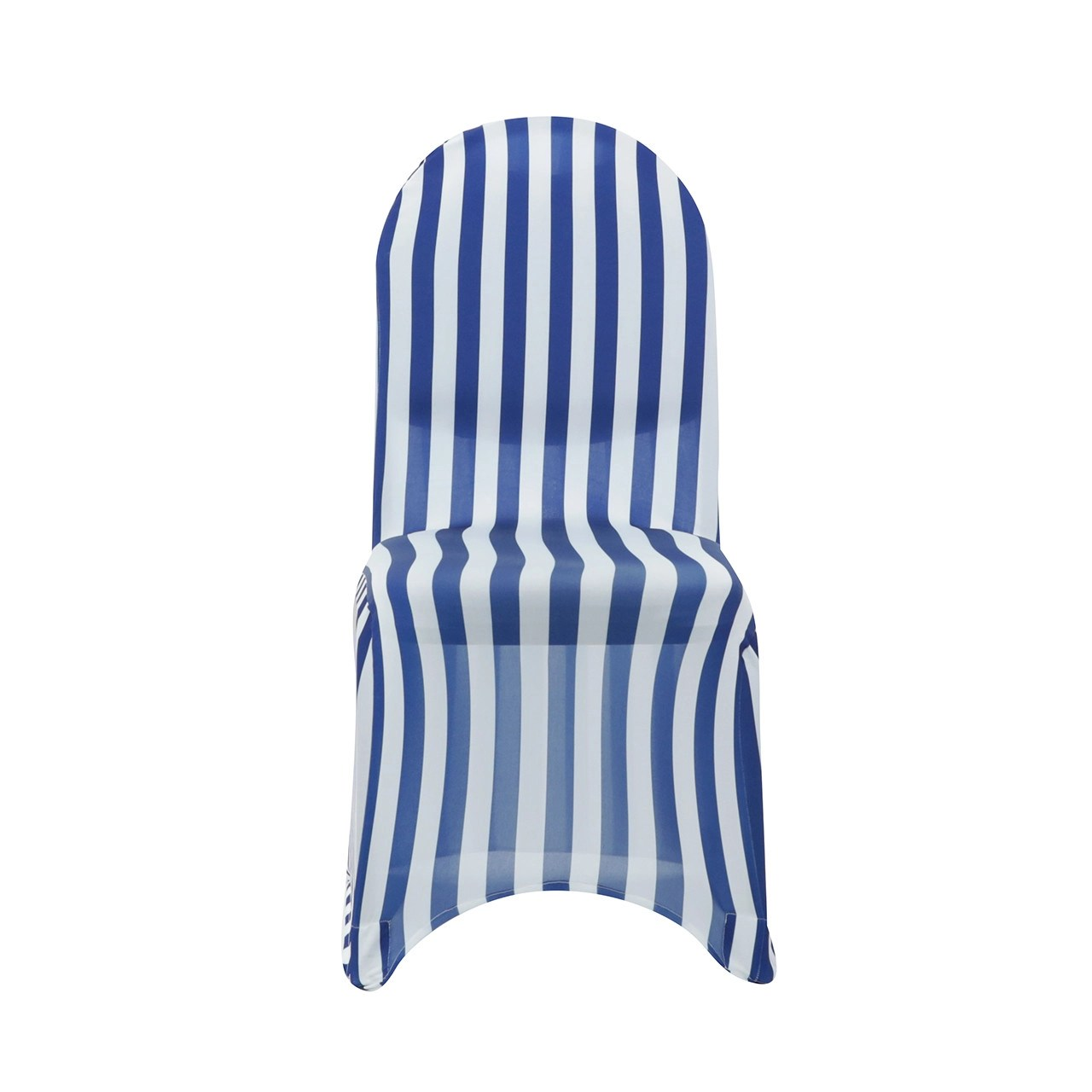 Blue And White Striped Chair Stretch Spandex Banquet Chair Cover Striped White And