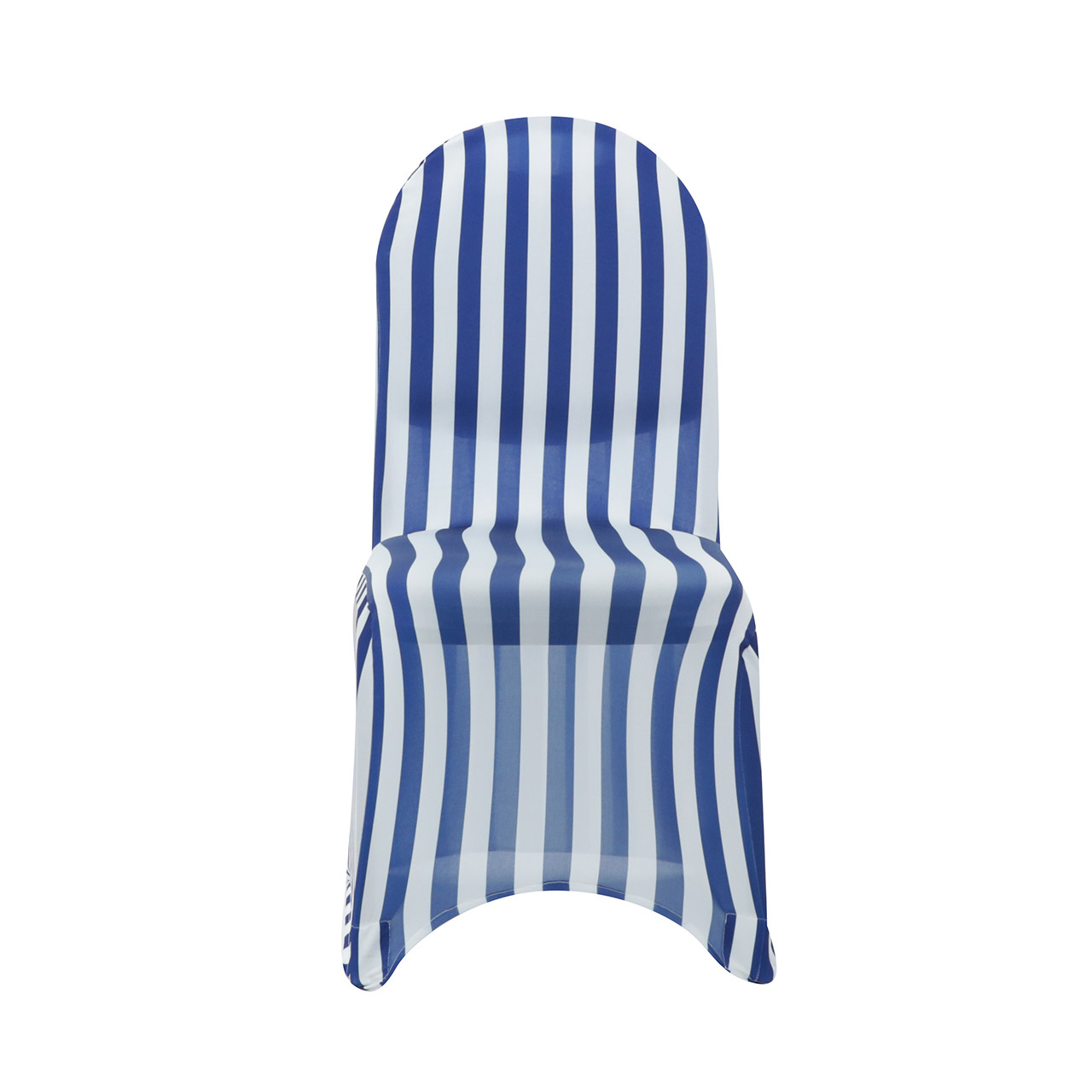 pale blue chair covers wicker folding chairs stretch spandex banquet cover striped white and