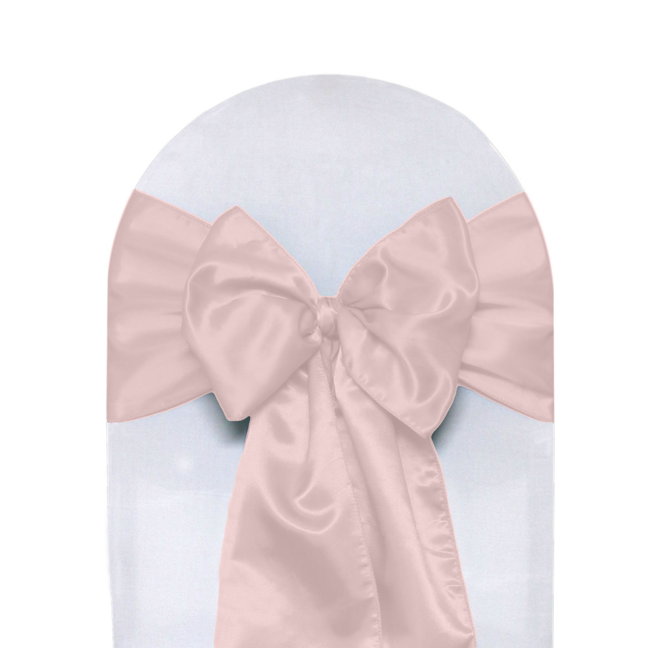 blush chair sashes baby eating satin pack of 10 your covers inc