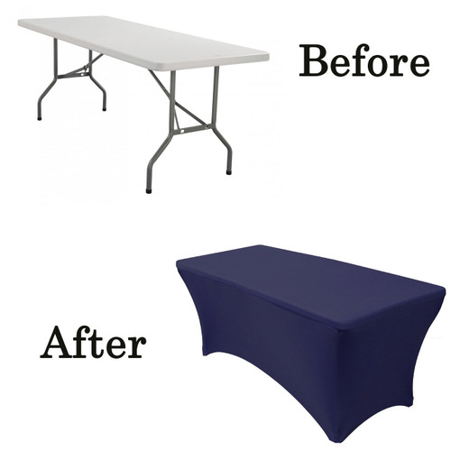 ivory spandex chair covers for sale 24 7 office chairs stretch 6 ft rectangular table cover - your inc.