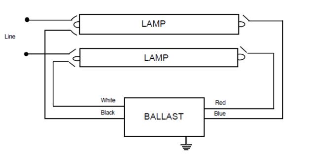 fluorescent light magnetic ballast wiring