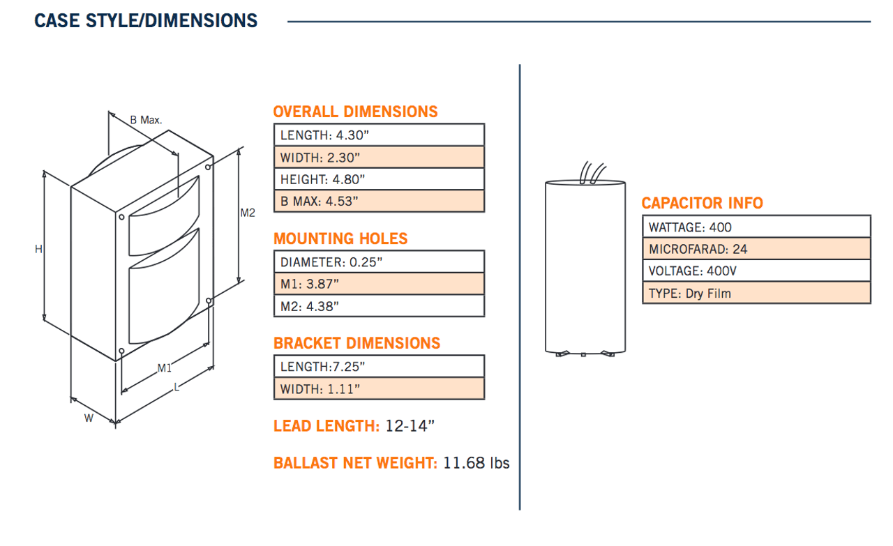 hight resolution of wiring mh 400a 480 kit dimensions