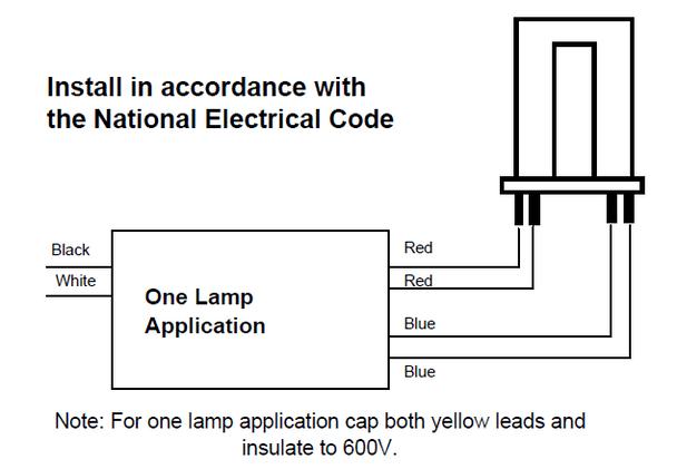 120v 220v Electronic Ballast Circuit For Twin 40 Watt Fluorescent