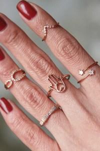 CZ Simple Bow Ring Rose Gold - kellinsilver.com