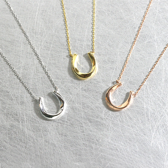 Twist Horseshoe Necklace Sterling Silver