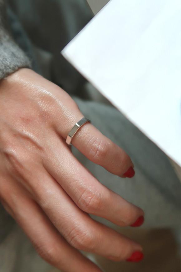 Octagon Sterling Silver Pinky Ring Kellinsilver Com