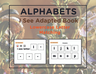 Free I See Learn Lower Case Letters Adapted Book Level