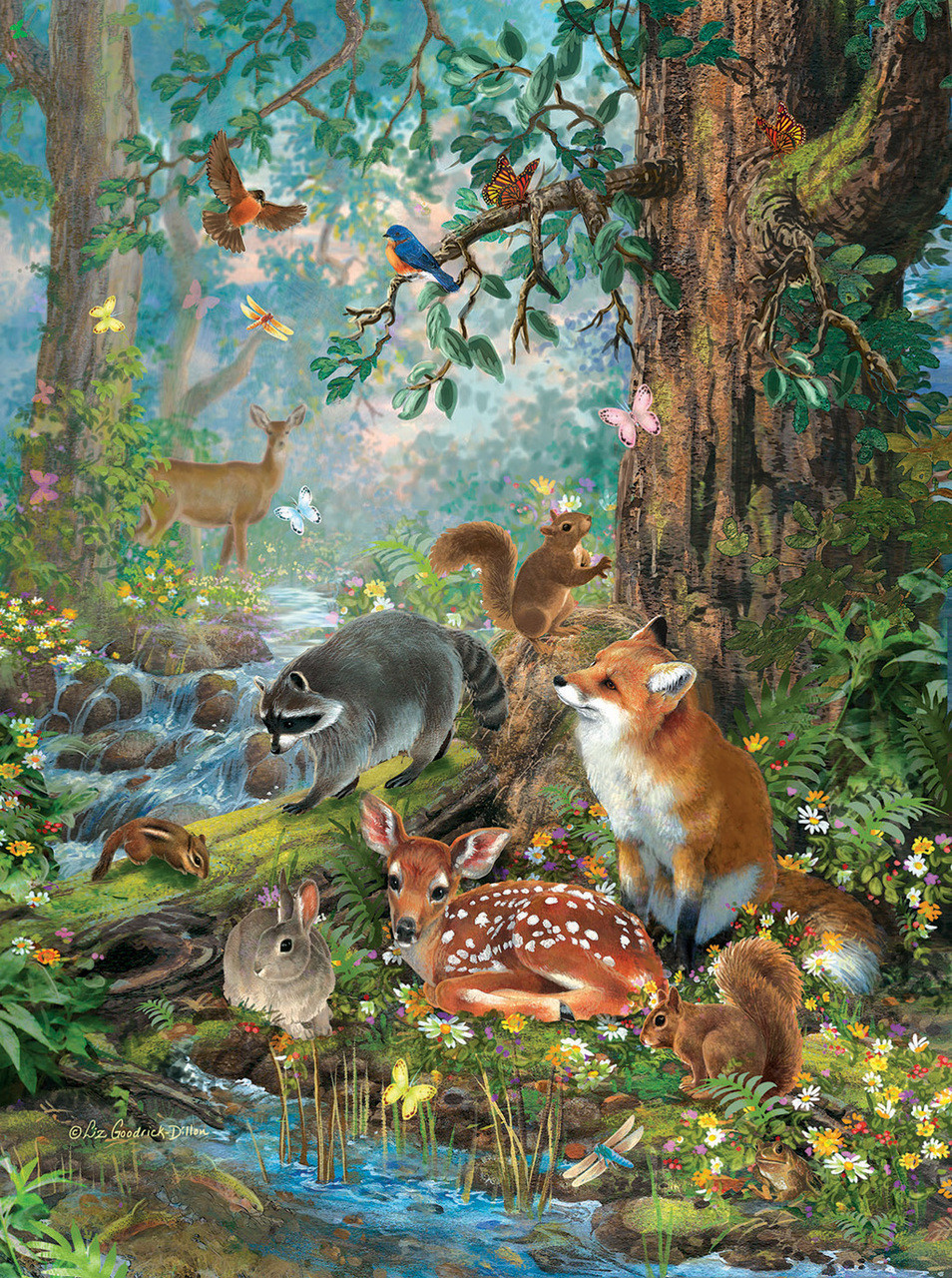 Animal Crossing Wild World Wallpaper Out In The Forest 1000pc Jigsaw Puzzle By Sunsout