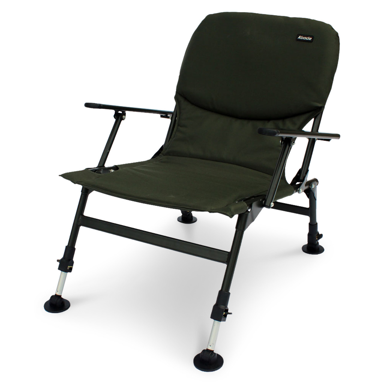 fishing chair with arms best computer chairs for gaming abode easy arm carp camping folding