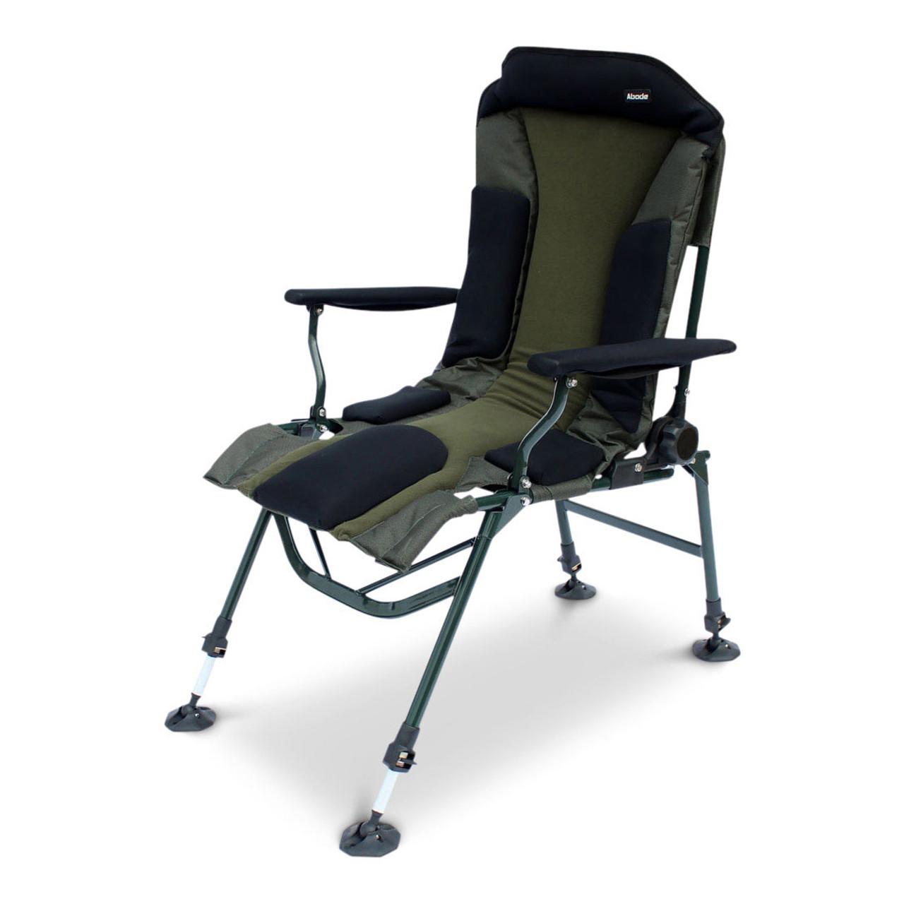 fishing chair add ons best chairs geneva glider abode carp camping folding easy arm long leg