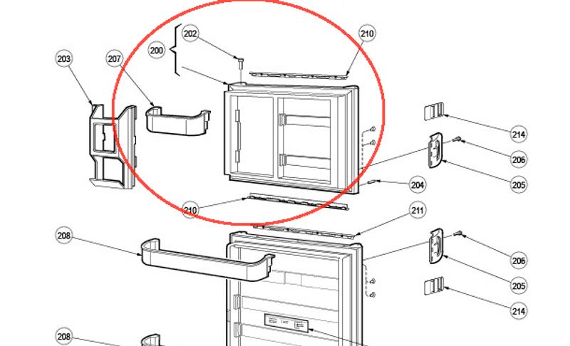 dometic refrigerator parts breakdown