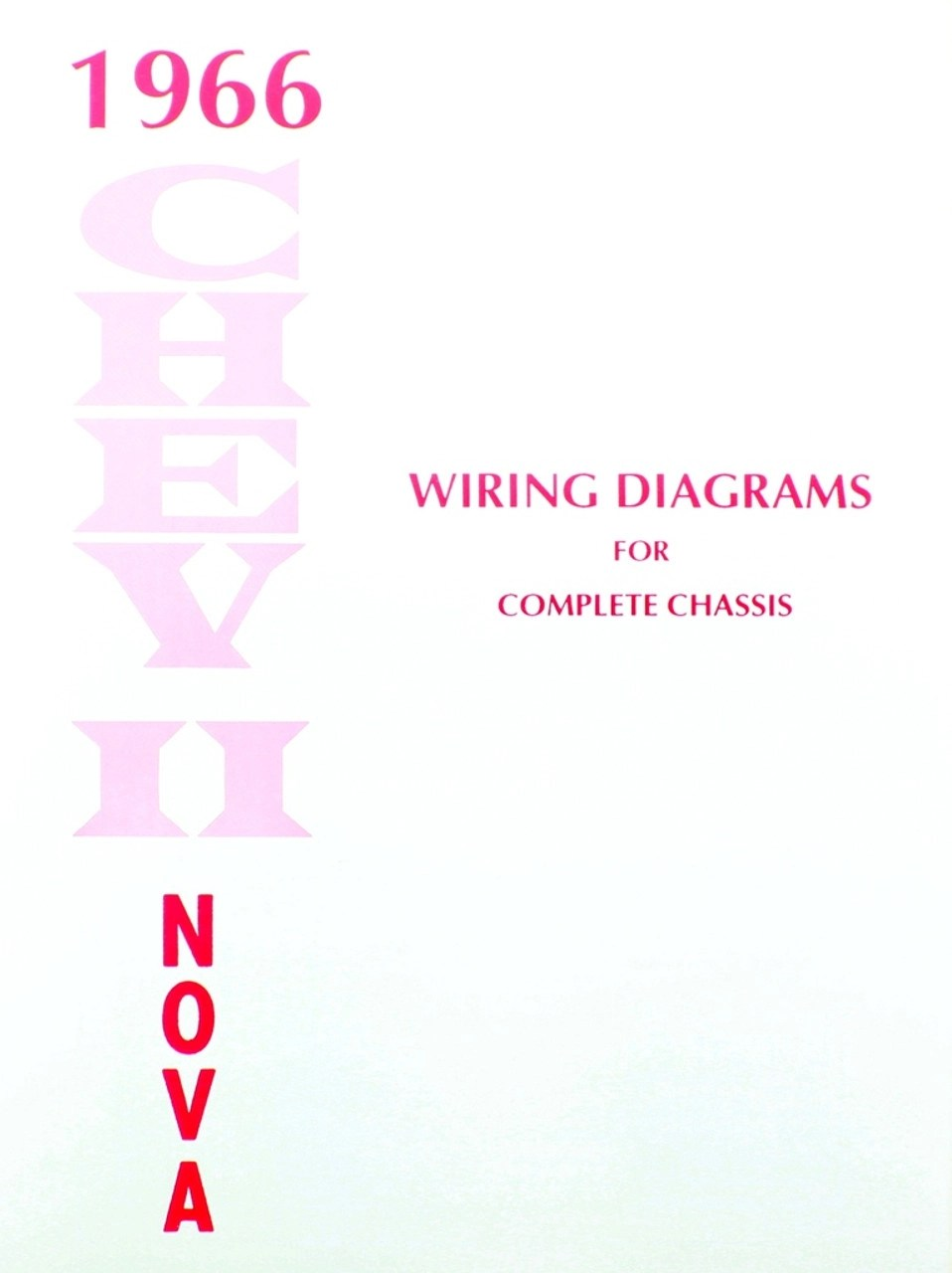 66 Chevy Nova Electrical Wiring Diagram Manual 1966  I5 Classic Chevy