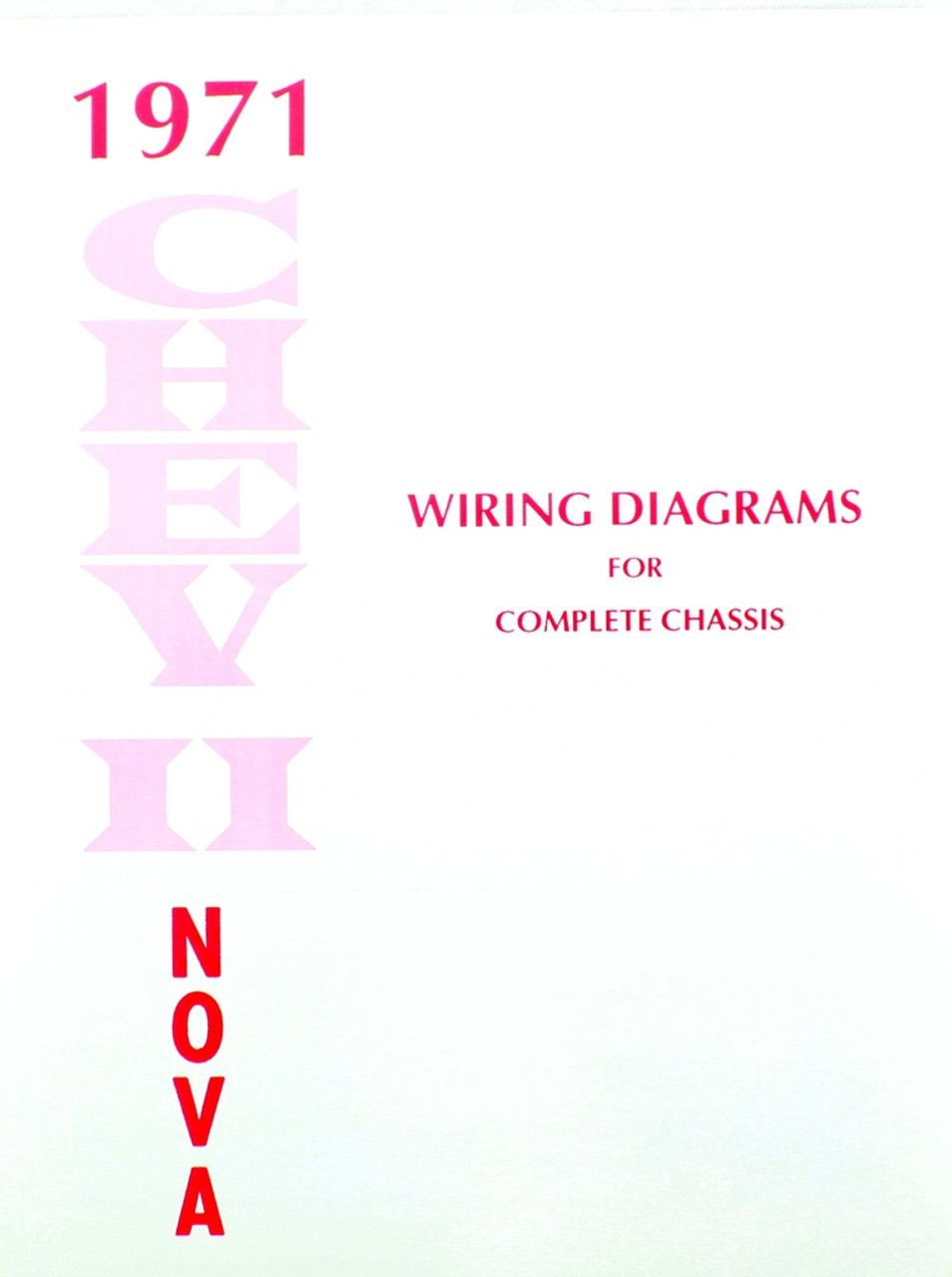 71 1971 CHEVY NOVA ELECTRICAL WIRING DIAGRAM MANUAL  I5