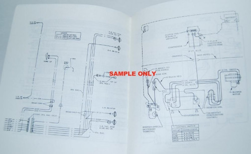 67 1967 CHEVY IMPALA ELECTRICAL WIRING DIAGRAM MANUAL  I