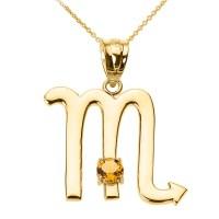 Yellow Gold Scorpio Zodiac Sign November Birthstone ...